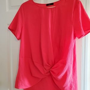 TUA Knotted Polyester Top Light Weight New W Tags